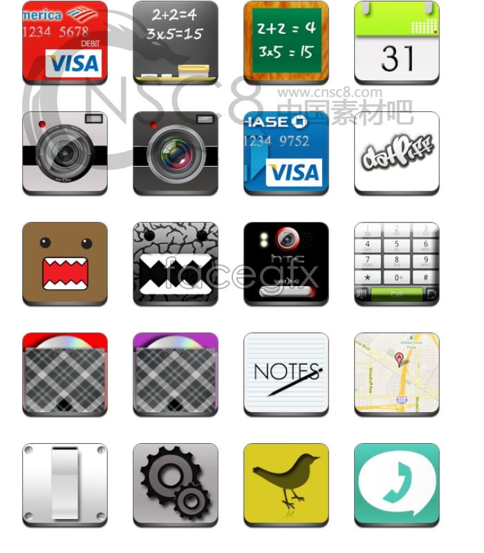 Beautifully designed desktop icons