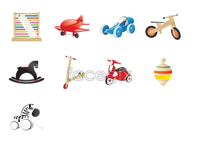 Children's toy icons