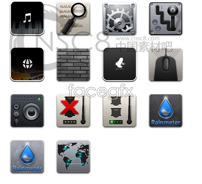 Iphone4 grey icons