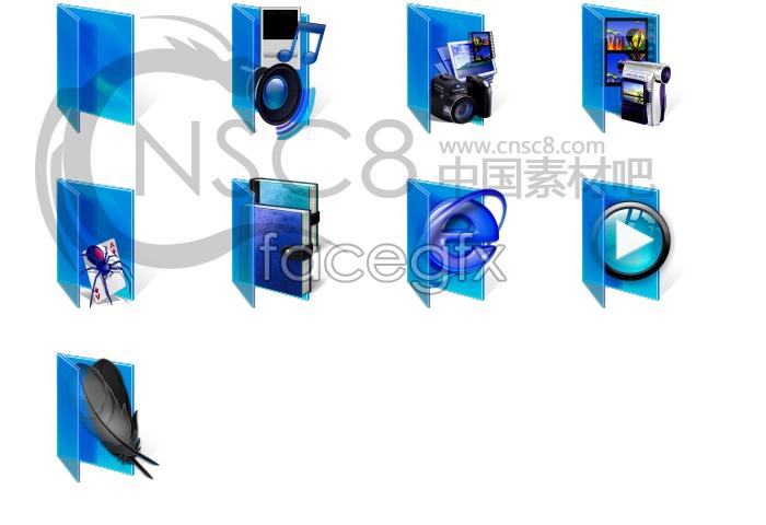 Blue Vista folder icon