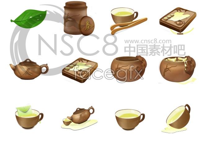 Classic tea desktop icons