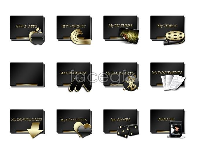 Metal folder icons