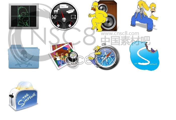 Simpson computer desktop icons