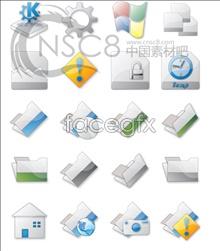 Grey Crystal modulation system icons