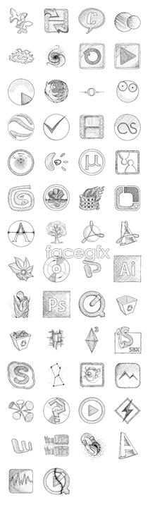 Sketch the system desktop icons