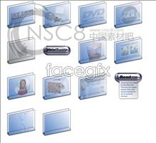 Translucent blue boxes folder