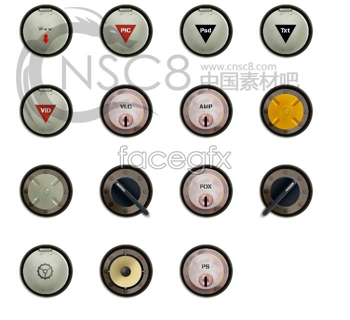 Buttons desktop icons