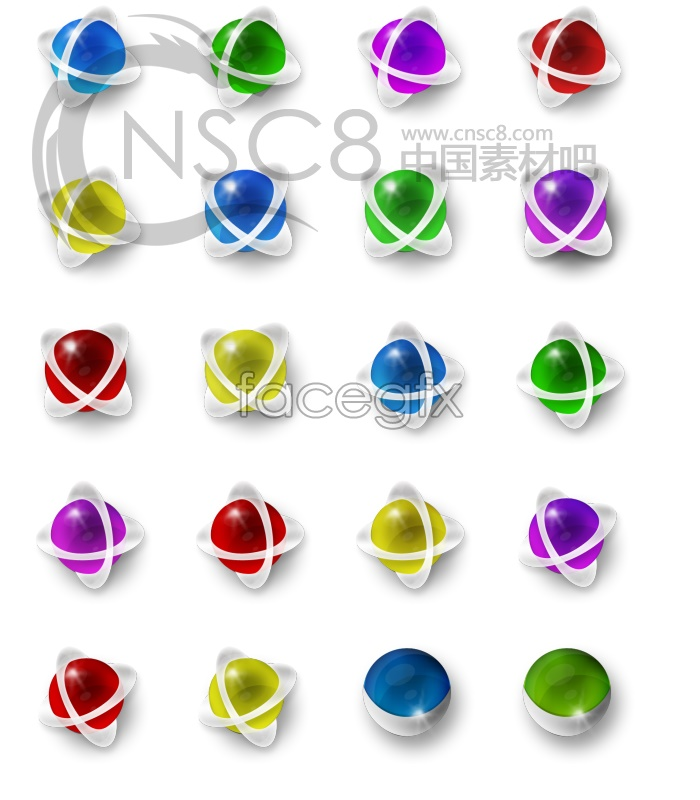 Color sphere desktop icons