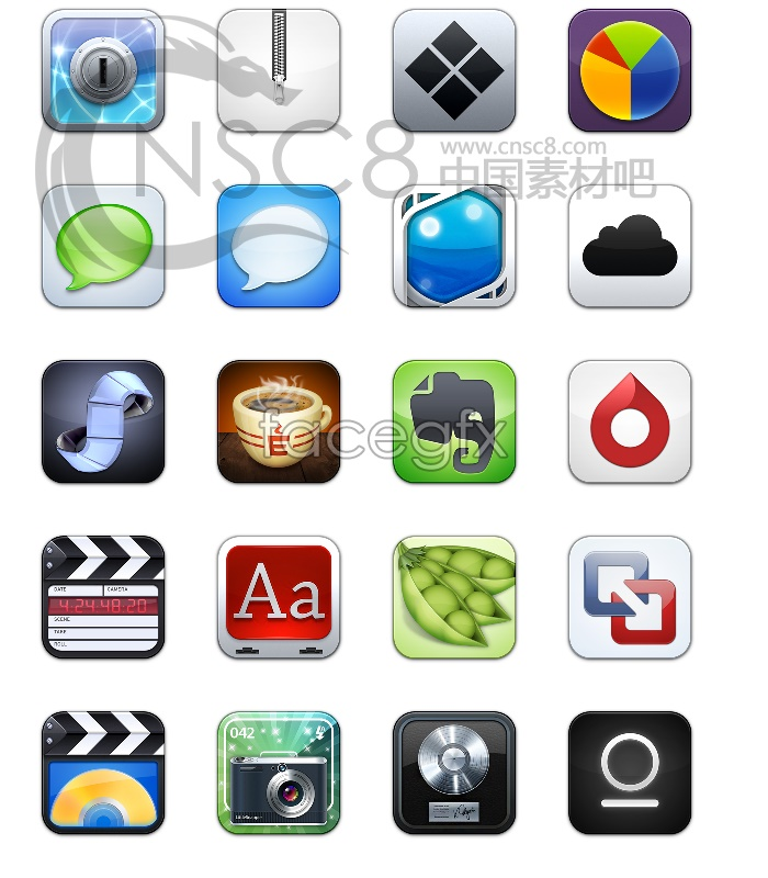 Download iPhone icons with rounded corners