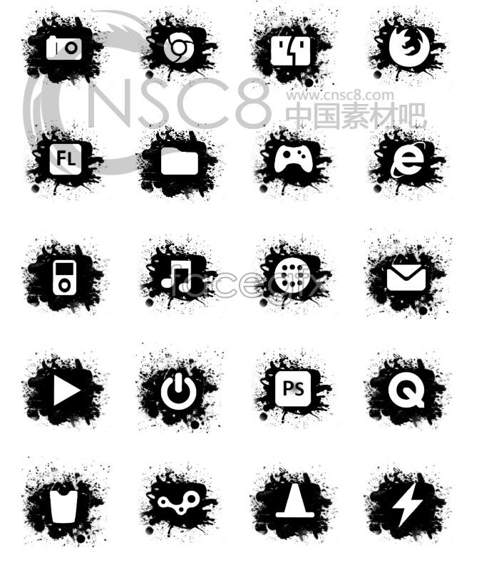 Ink desktop icons