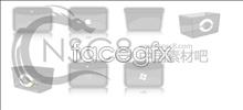 Fuzzy plastic box icon