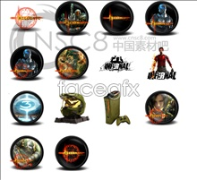 Online gaming icons