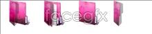 Pink folders desktop icons