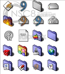 Violet Blue series system icons