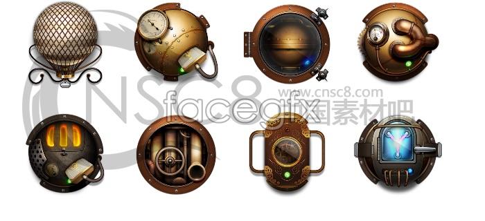 Alien technology desktop icons