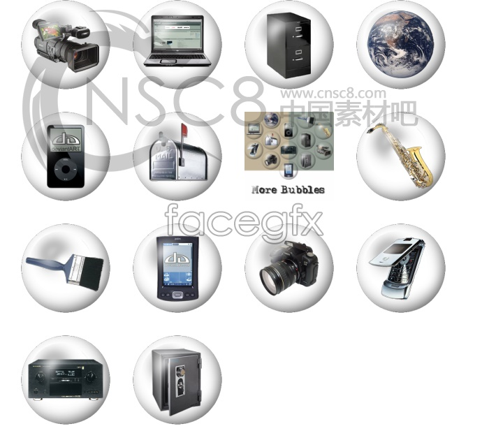 Blister of household appliances icons
