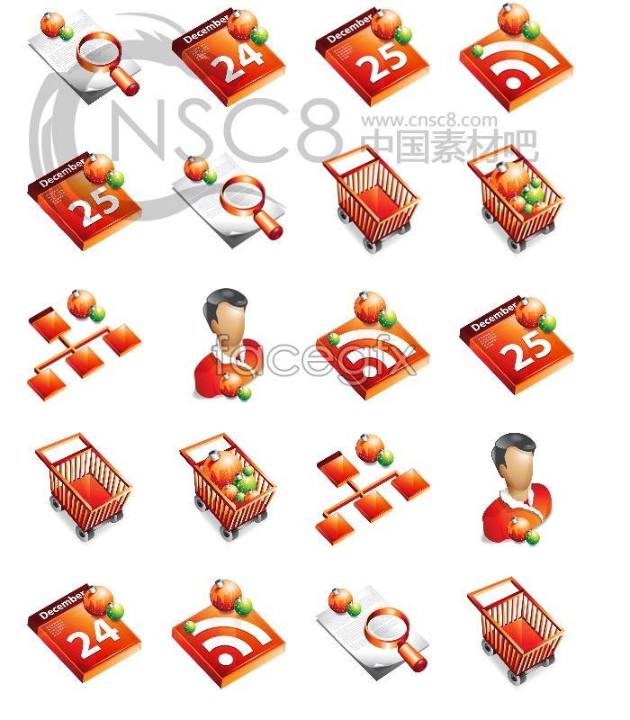 Christmas desktop icons