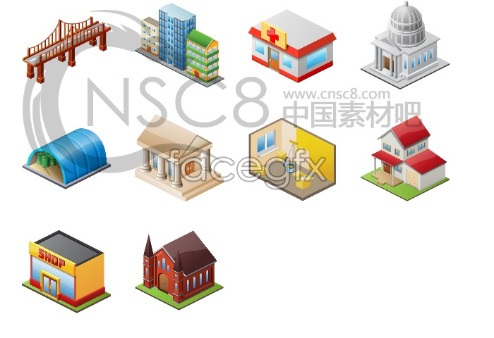 City building computer icons