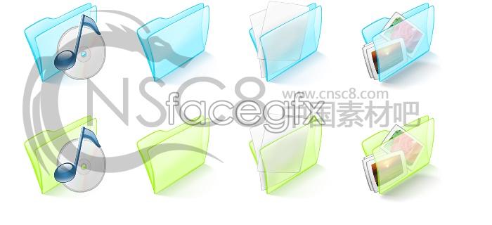 Crystal folders desktop icons