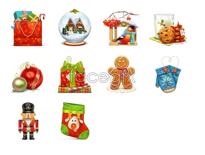 Cute Christmas design icons