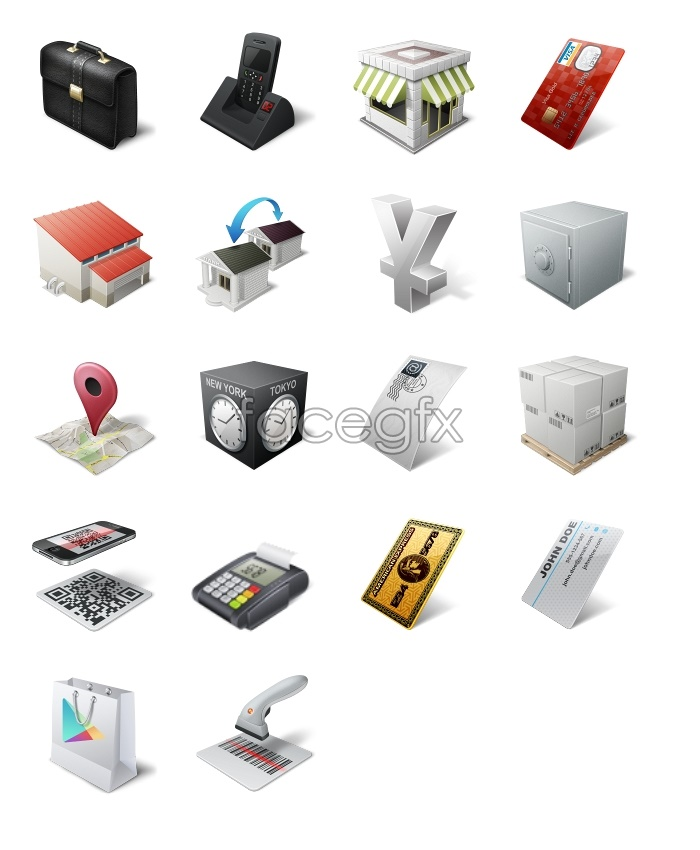 Logistics equipment icons