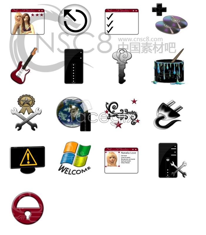 Non-mainstream computer desktop icons