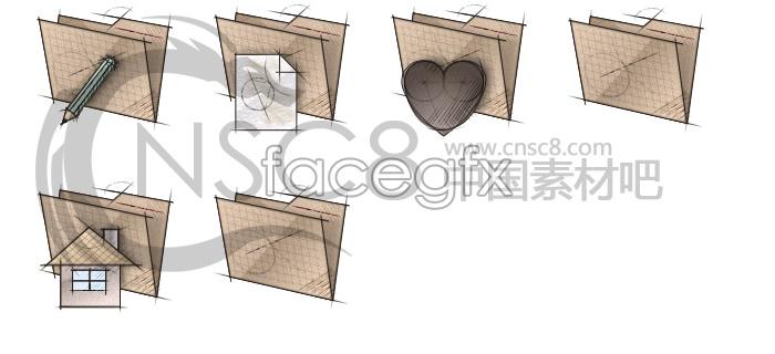 Sketch the gray folder