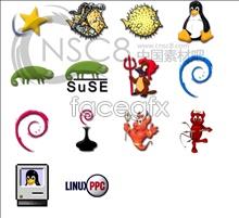 Beautiful animal system icon