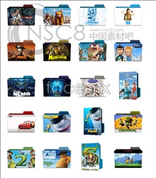 Movie folders desktop icons
