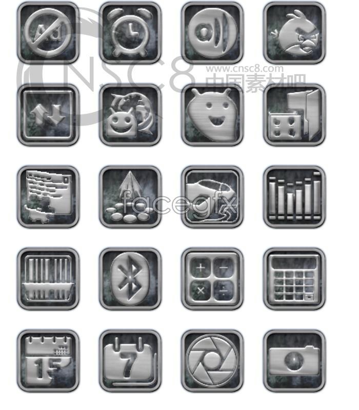 Embossed desktop icons