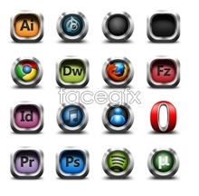 Sound theme silver software icons