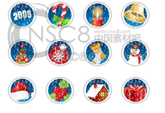 2009 Christmas icons