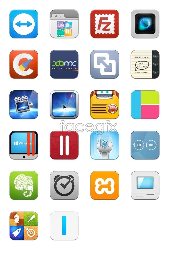 Cell phone programs desktop icons