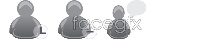 Grey MSN icons