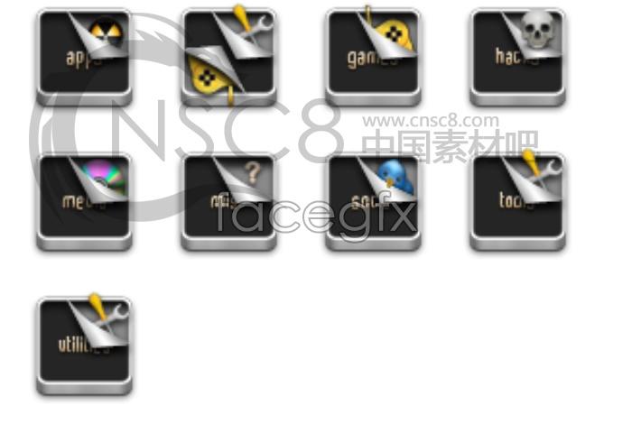 Small metal desktop icons