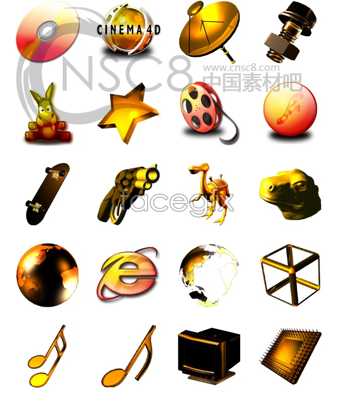 Space style desktop icons