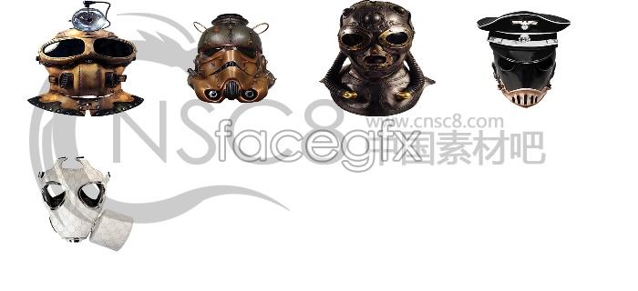 Gas mask desktop icons