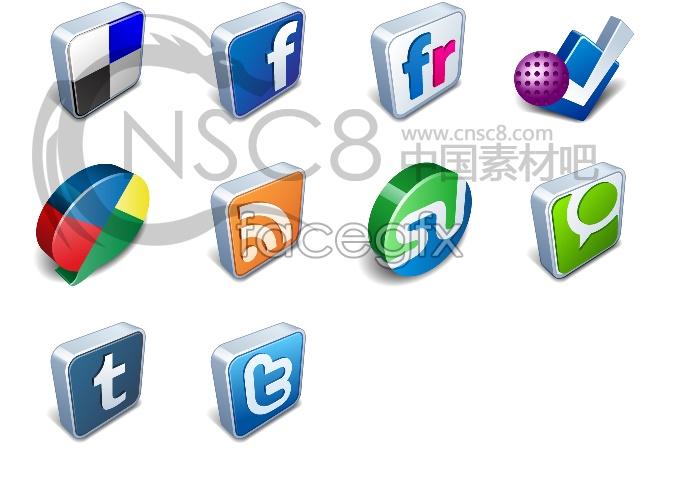 Stereo designed desktop icons