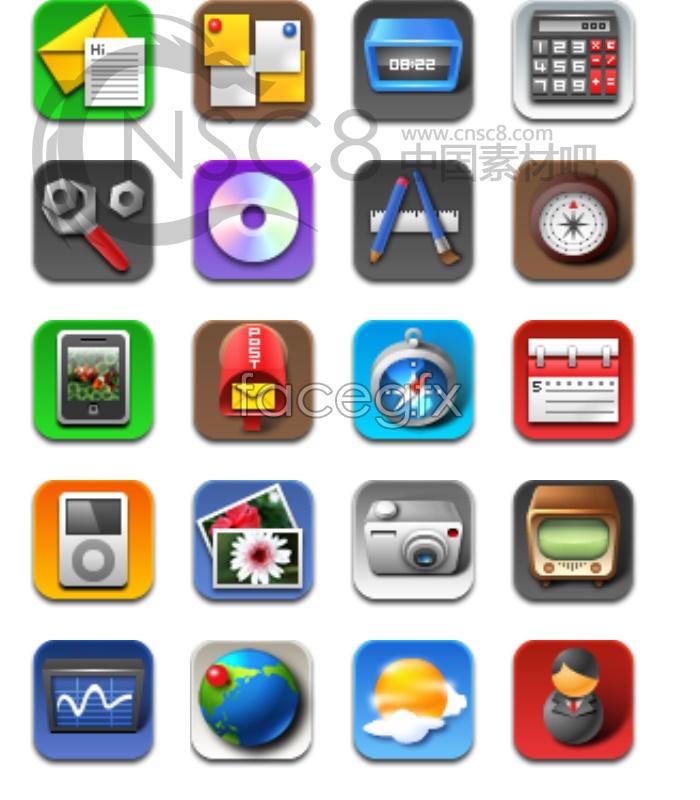 Iphone4 desktop icons