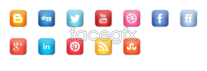 Magic social media icons