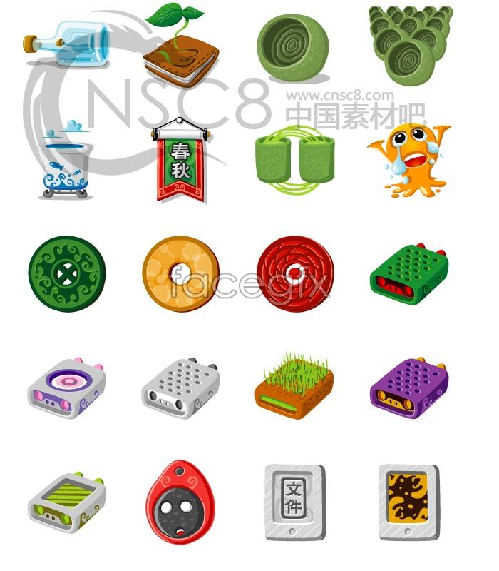 Cartoon Chinese wind icons