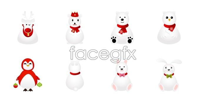 Christmas animal icons