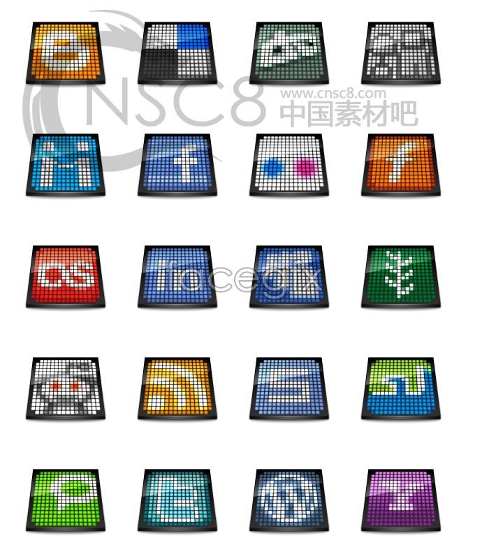 Grid LOGO desktop icons