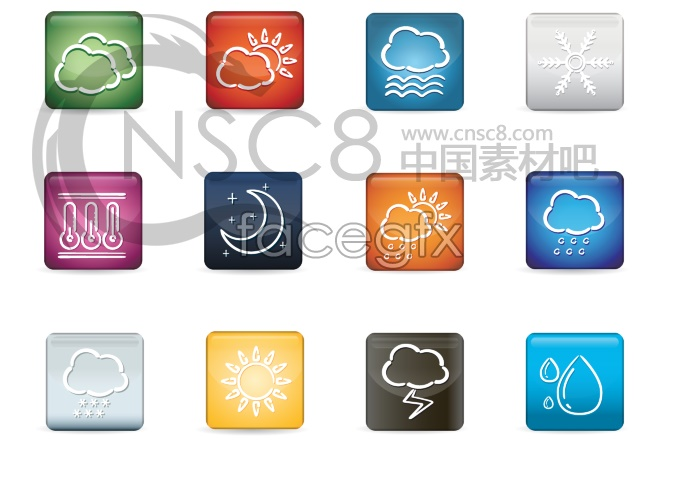 Mobile weather forecast desktop icon