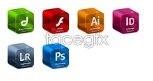 Adobe Systems Software solid icons