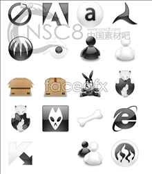Download software icons in black and white