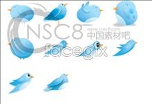 Twitter logo desktop icons