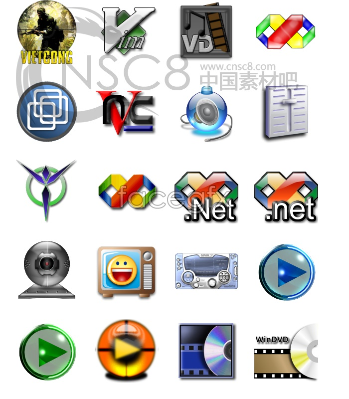 Classic crystal series icons