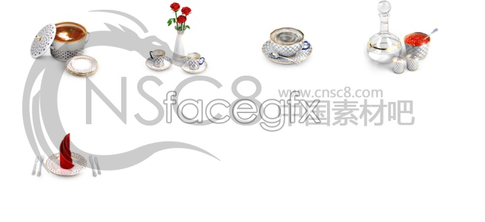 Continental porcelain ware icons