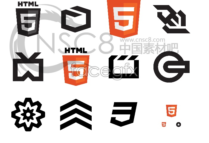 The HTML5 language icons